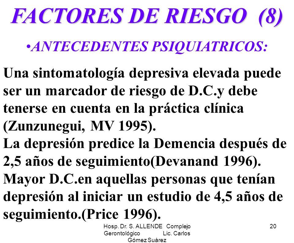 ANTECEDENTES PSIQUIATRICOS: