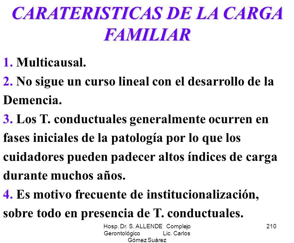 CARATERISTICAS DE LA CARGA FAMILIAR