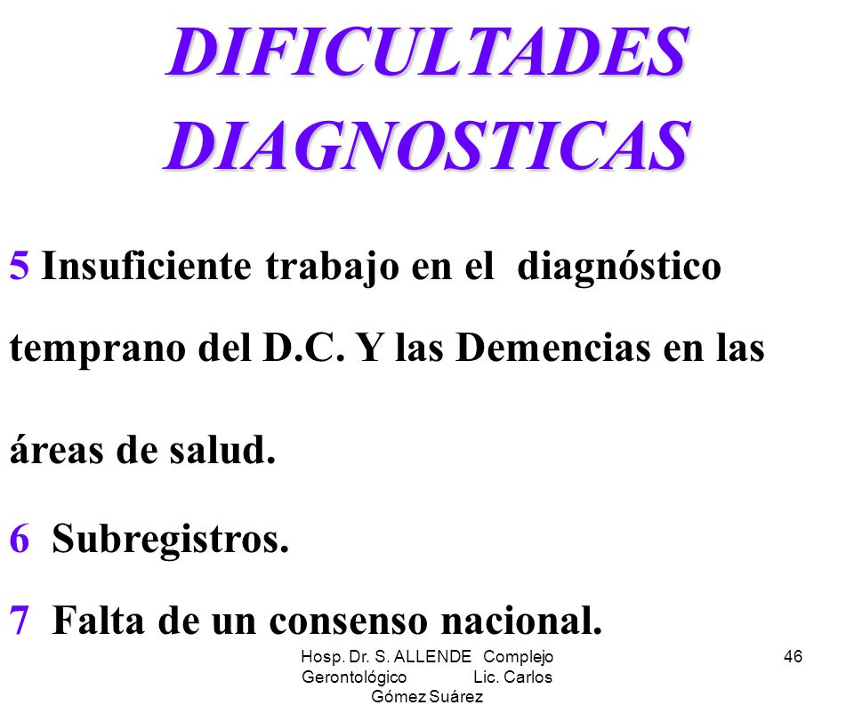 DIFICULTADES DIAGNOSTICAS