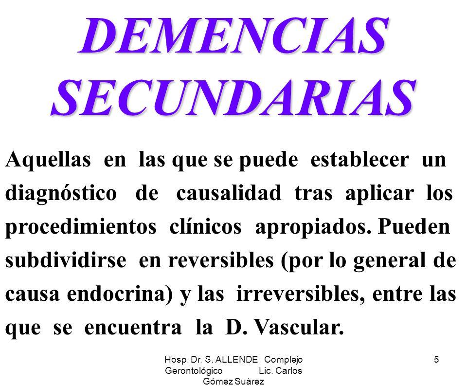 DEMENCIAS SECUNDARIAS
