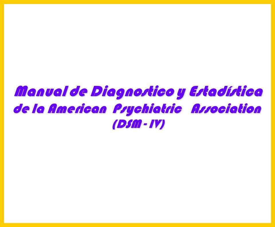 Manual de Diagnostico y Estadística