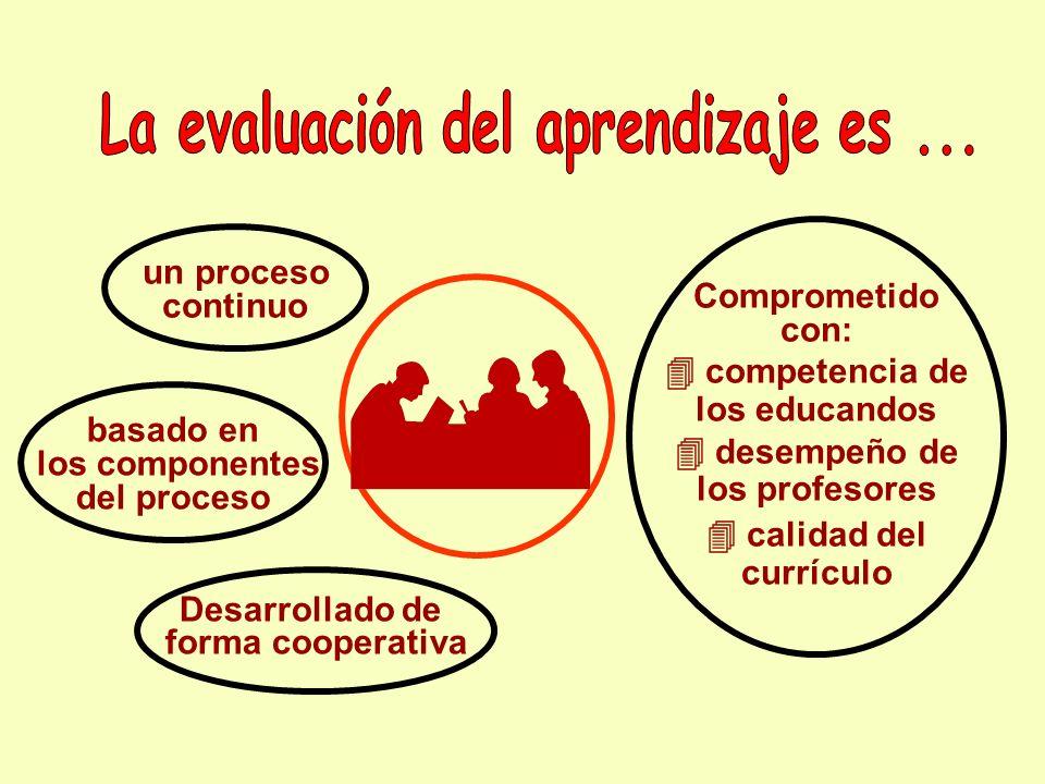 La evaluación del aprendizaje es ...