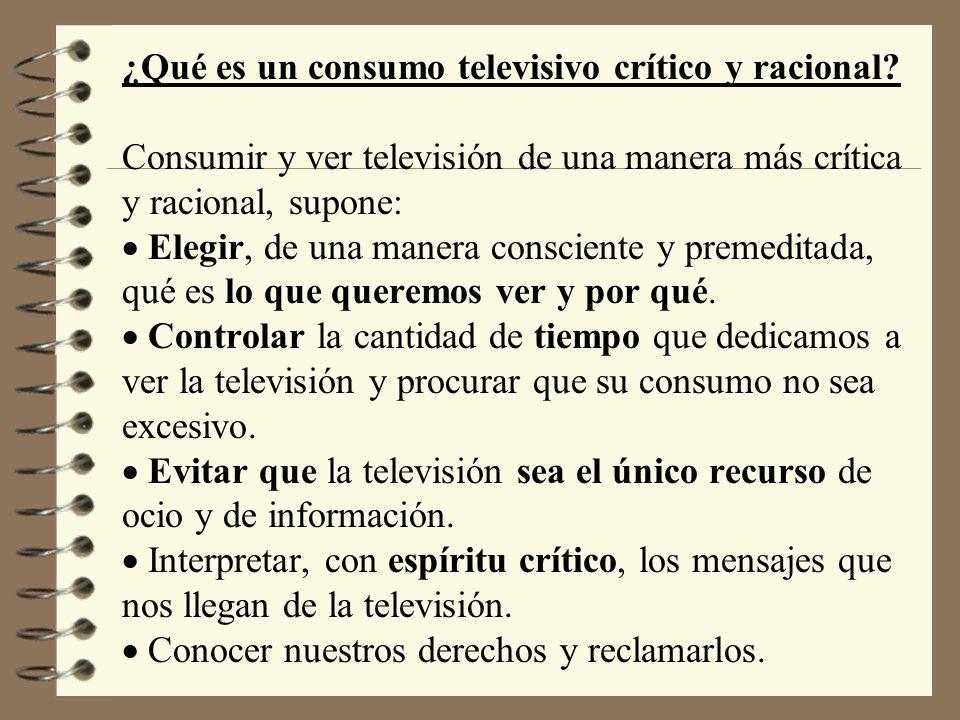 ¿Qué es un consumo televisivo crítico y racional