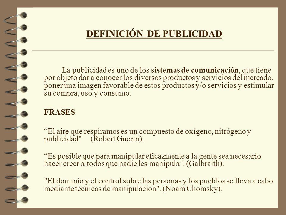 DEFINICIÓN DE PUBLICIDAD
