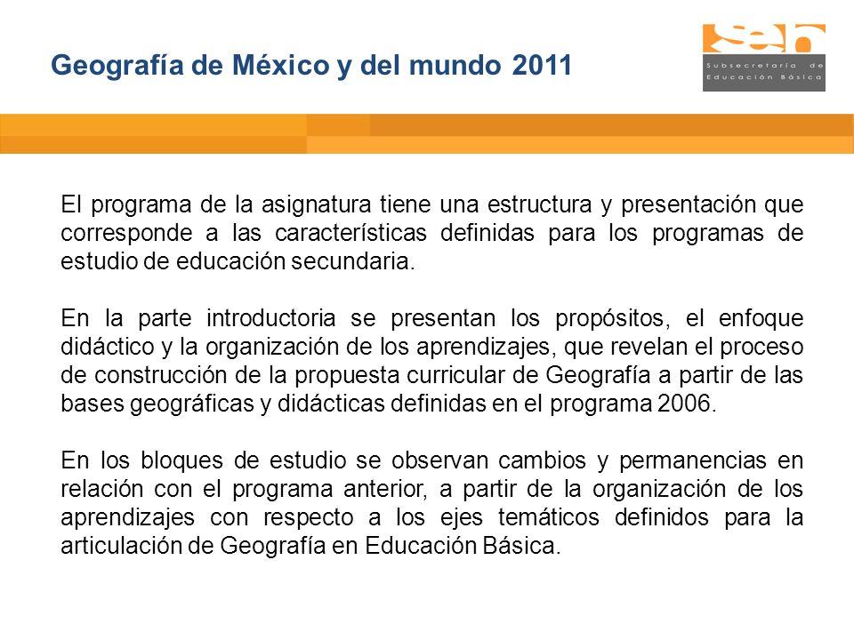 Geografía de México y del mundo 2011