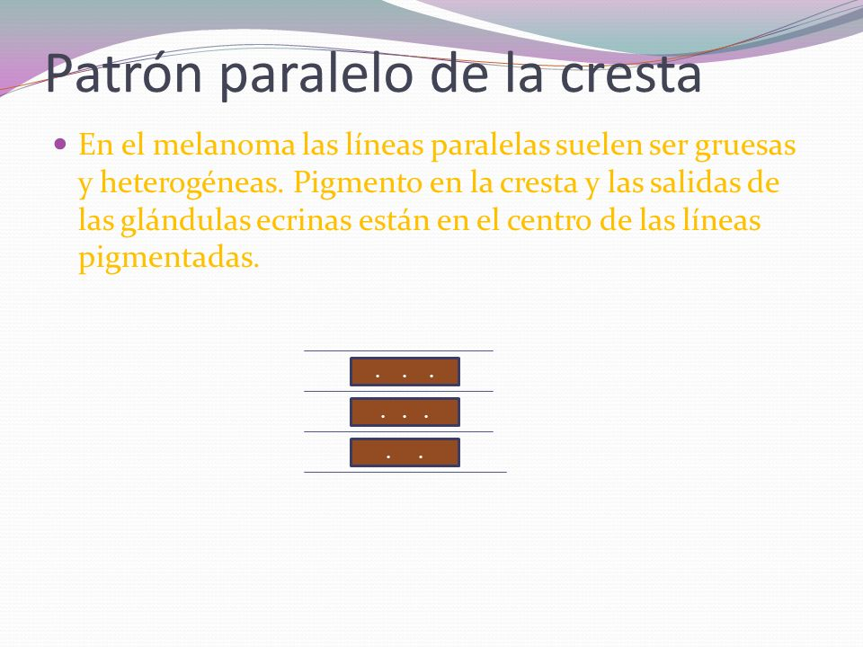 Patrón paralelo de la cresta