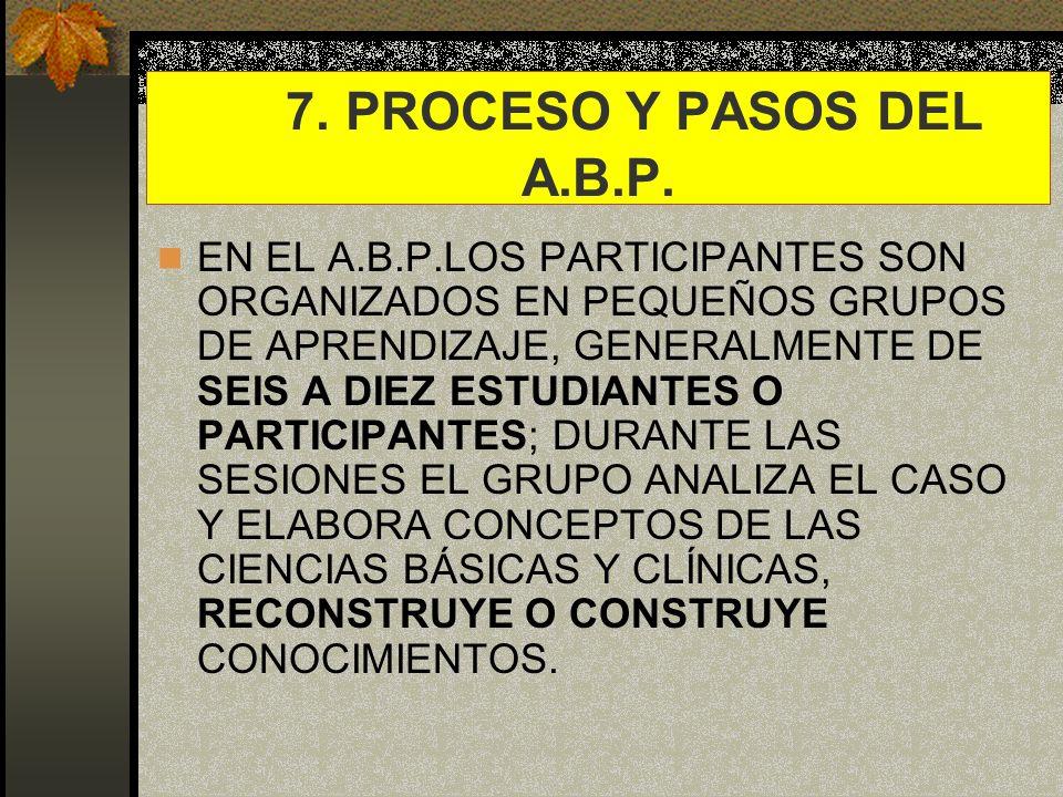 7. PROCESO Y PASOS DEL A.B.P.