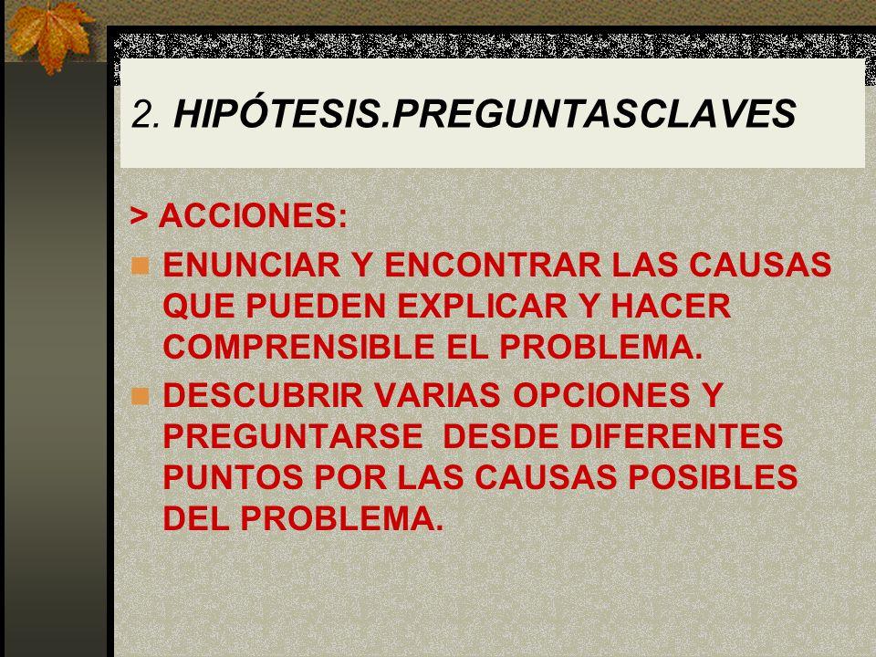 2. HIPÓTESIS.PREGUNTASCLAVES