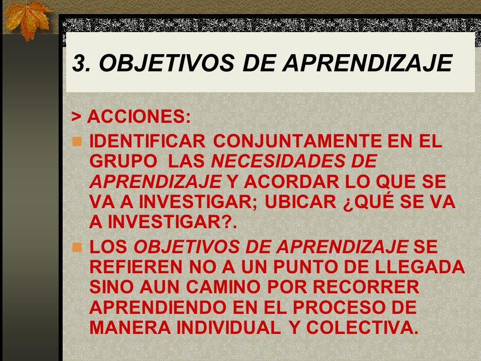 3. OBJETIVOS DE APRENDIZAJE