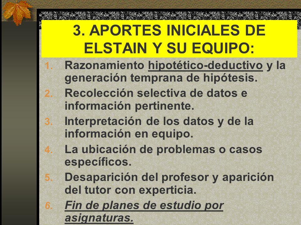 3. APORTES INICIALES DE ELSTAIN Y SU EQUIPO: