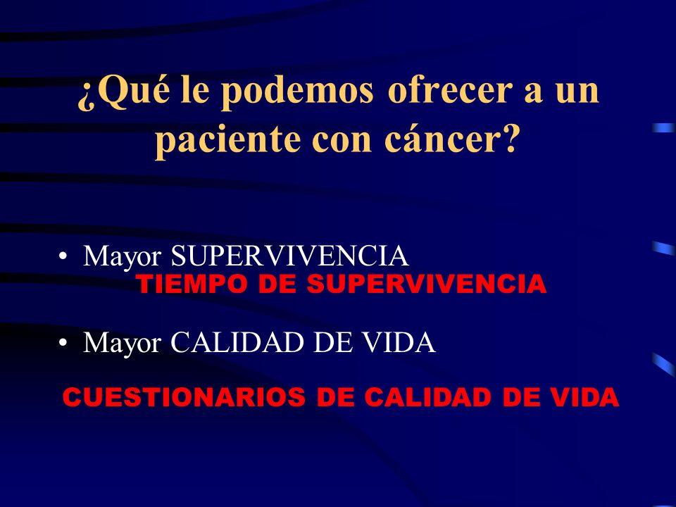 ¿Qué le podemos ofrecer a un paciente con cáncer