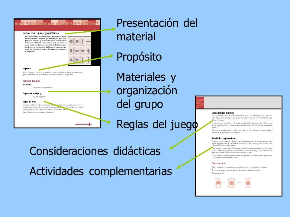 Presentación del material