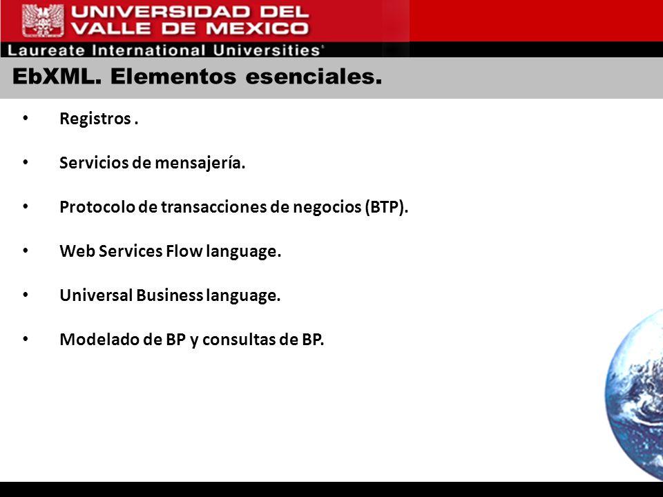 EbXML. Elementos esenciales.