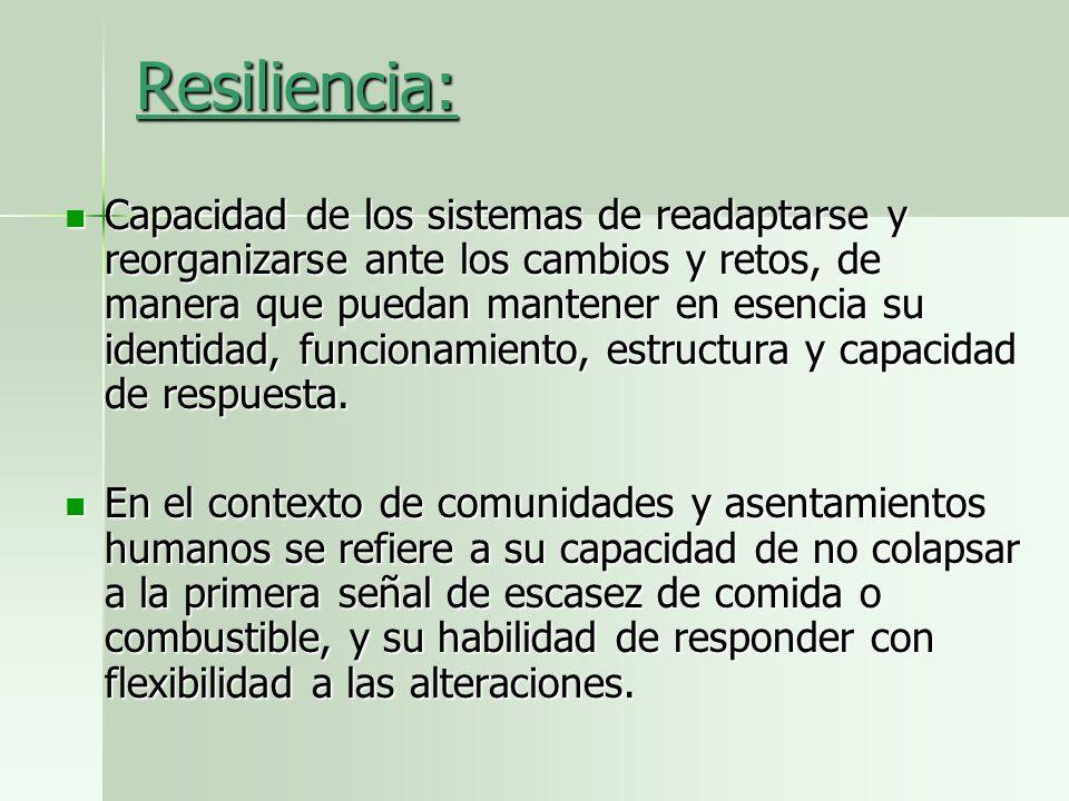 Resiliencia:
