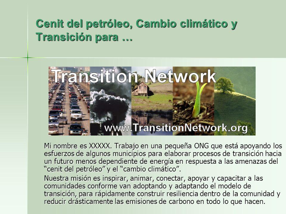 Cenit del petróleo, Cambio climático y Transición para …