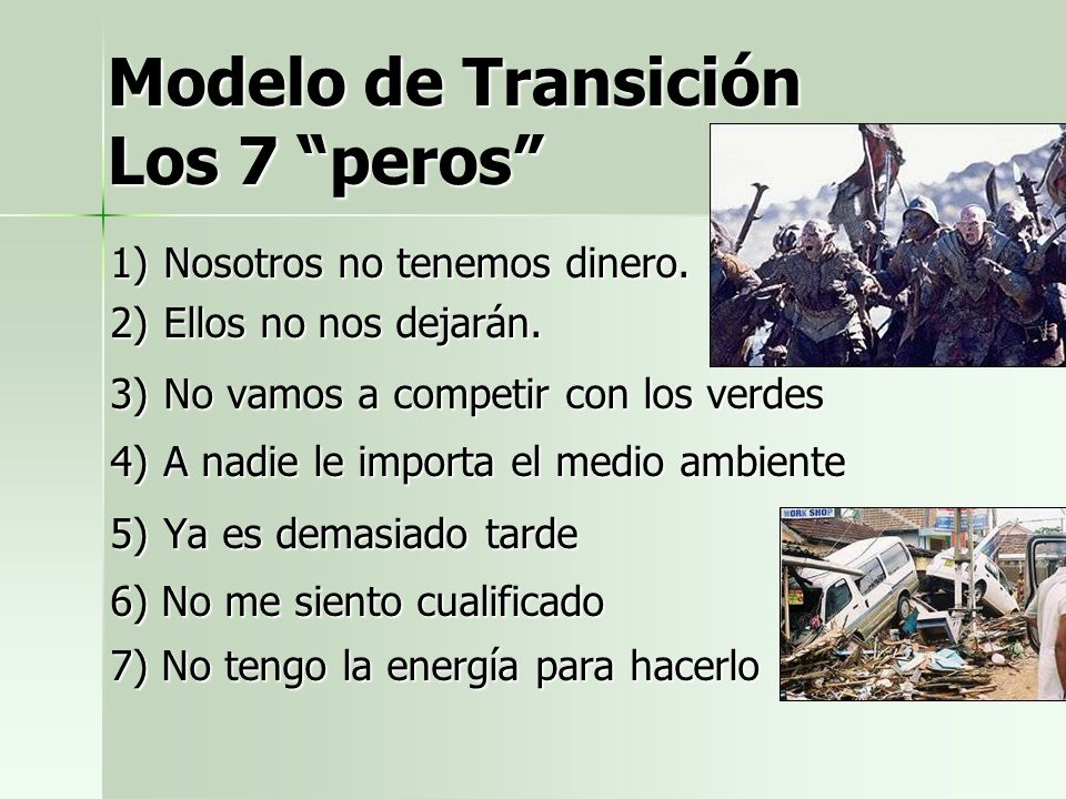 Modelo de Transición Los 7 peros