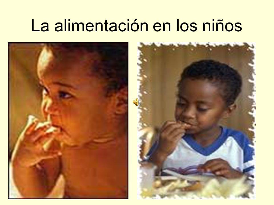 La alimentación en los niños