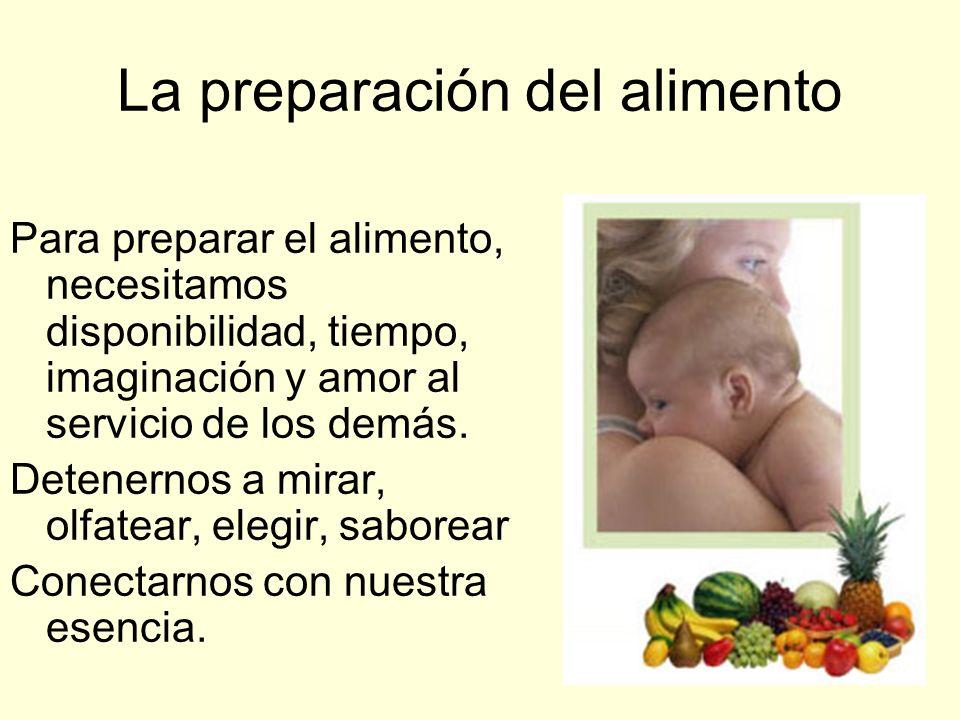 La preparación del alimento