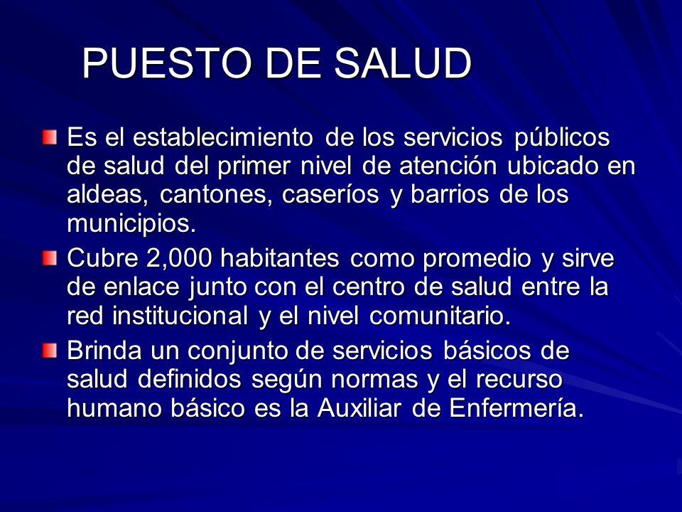 PUESTO DE SALUD