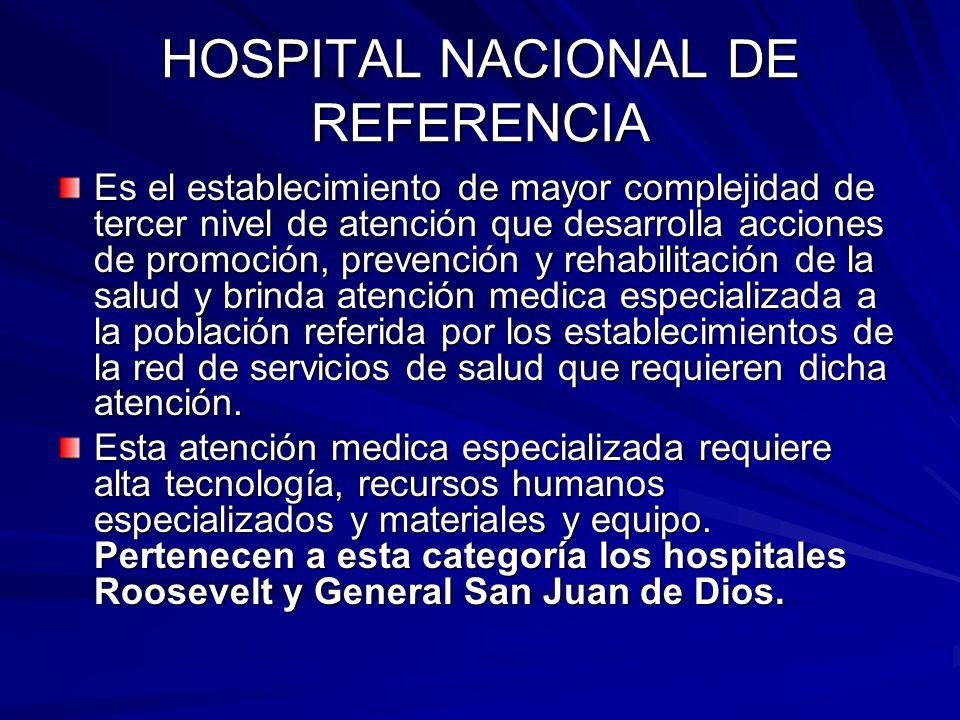 HOSPITAL NACIONAL DE REFERENCIA