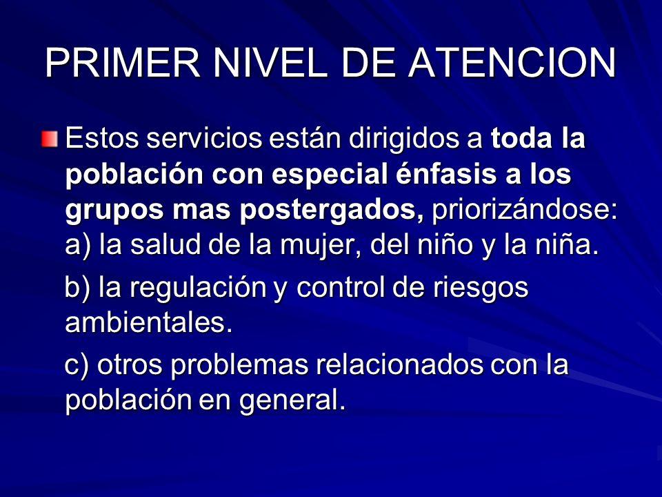PRIMER NIVEL DE ATENCION