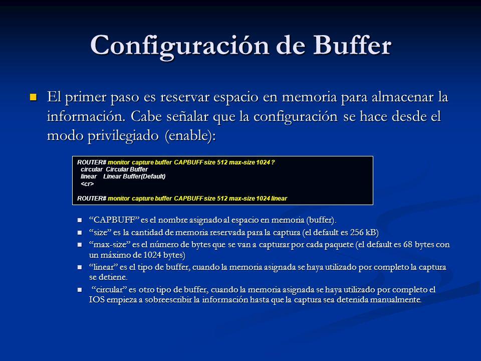 Configuración de Buffer