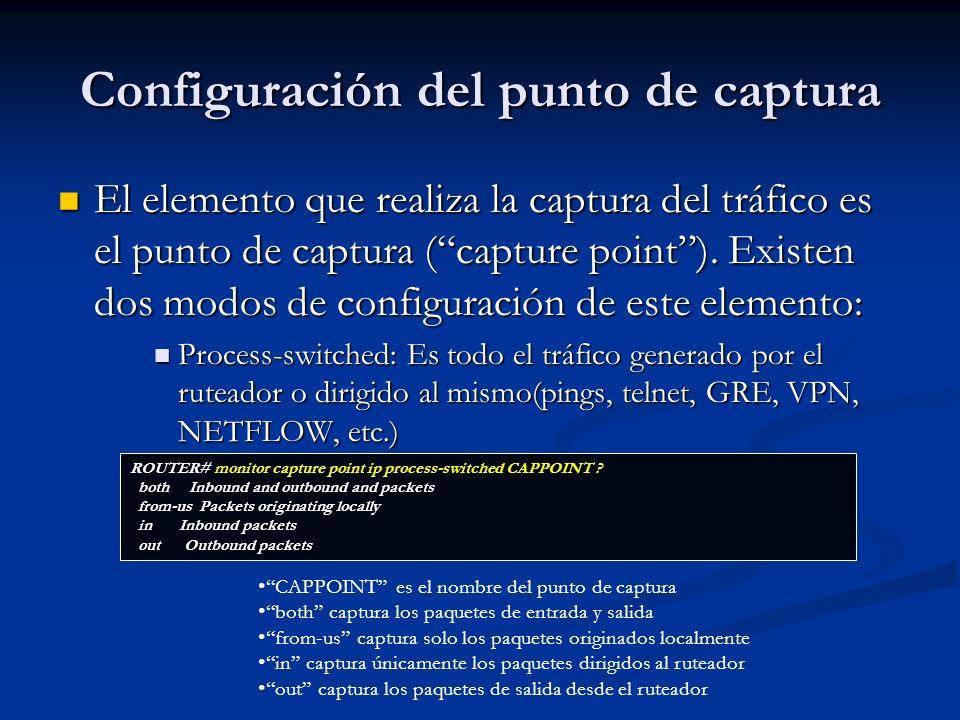 Configuración del punto de captura