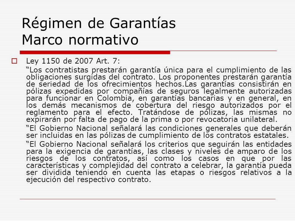 Régimen de Garantías Marco normativo