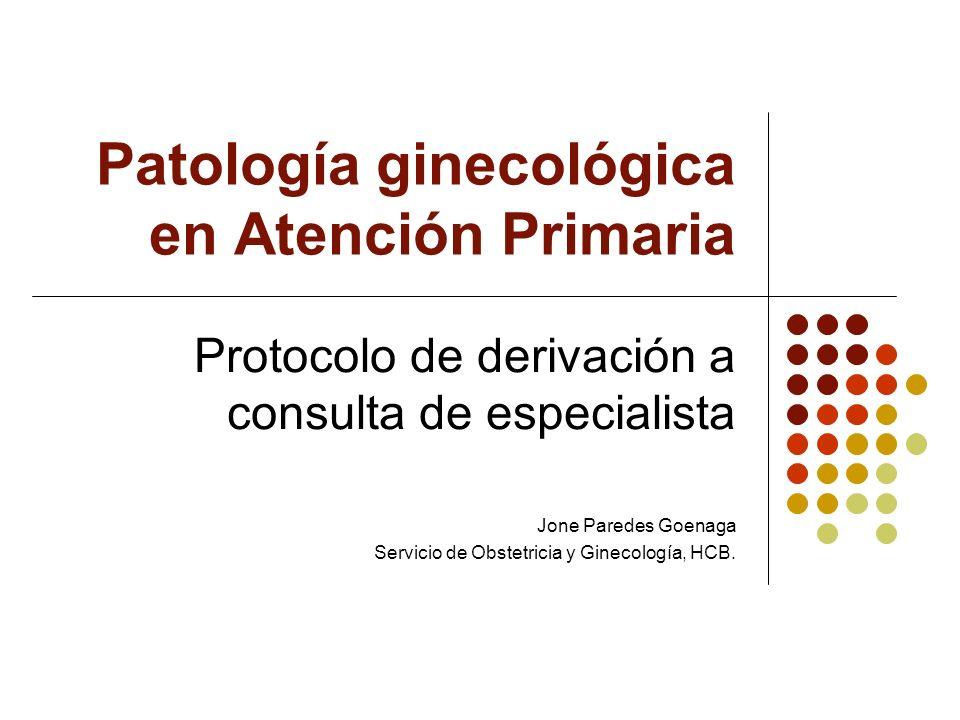 Patología ginecológica en Atención Primaria