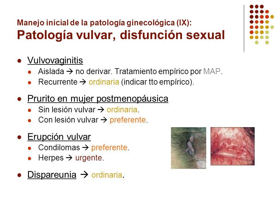 Prurito en mujer postmenopáusica