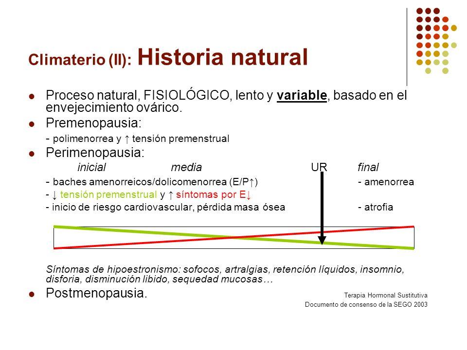 Climaterio (II): Historia natural