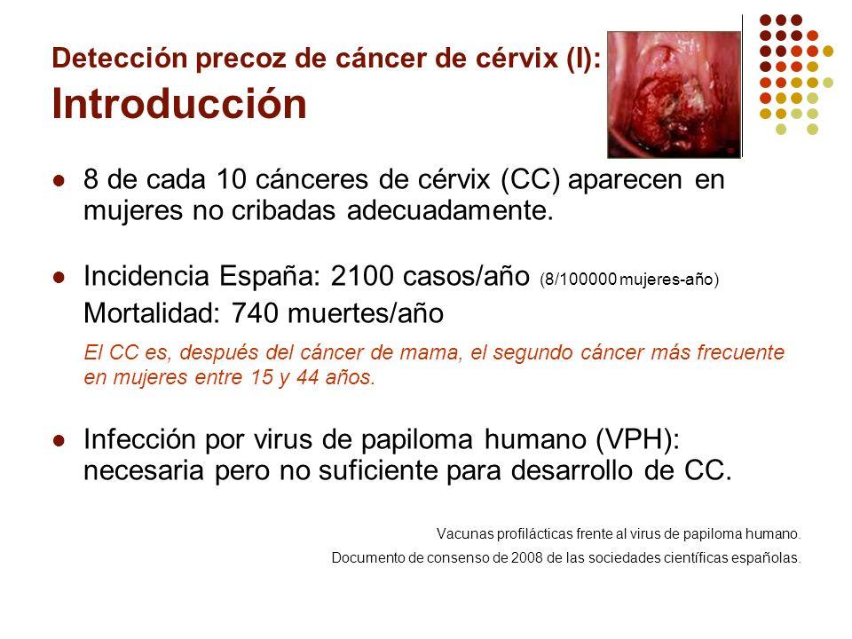 Detección precoz de cáncer de cérvix (I): Introducción