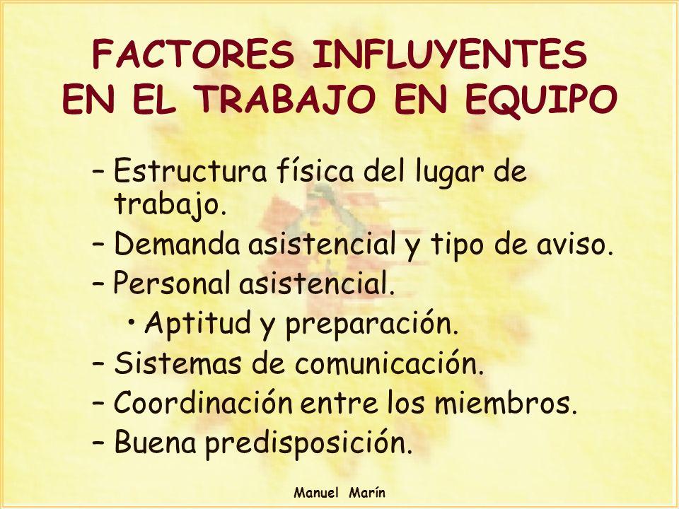 FACTORES INFLUYENTES EN EL TRABAJO EN EQUIPO