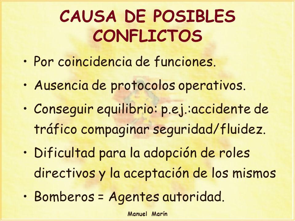 CAUSA DE POSIBLES CONFLICTOS