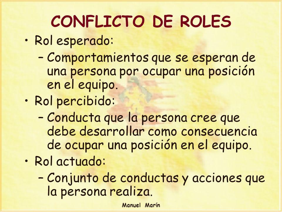 CONFLICTO DE ROLES Rol esperado: