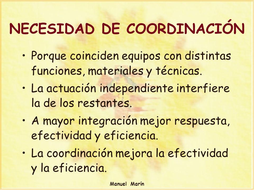 NECESIDAD DE COORDINACIÓN