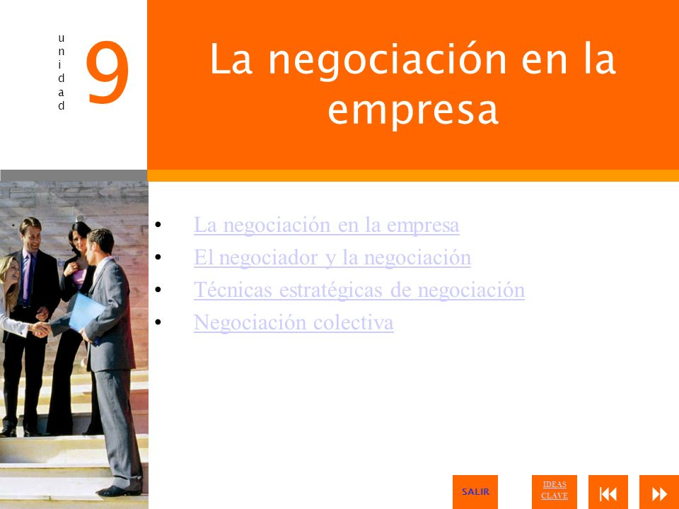 La negociación en la empresa