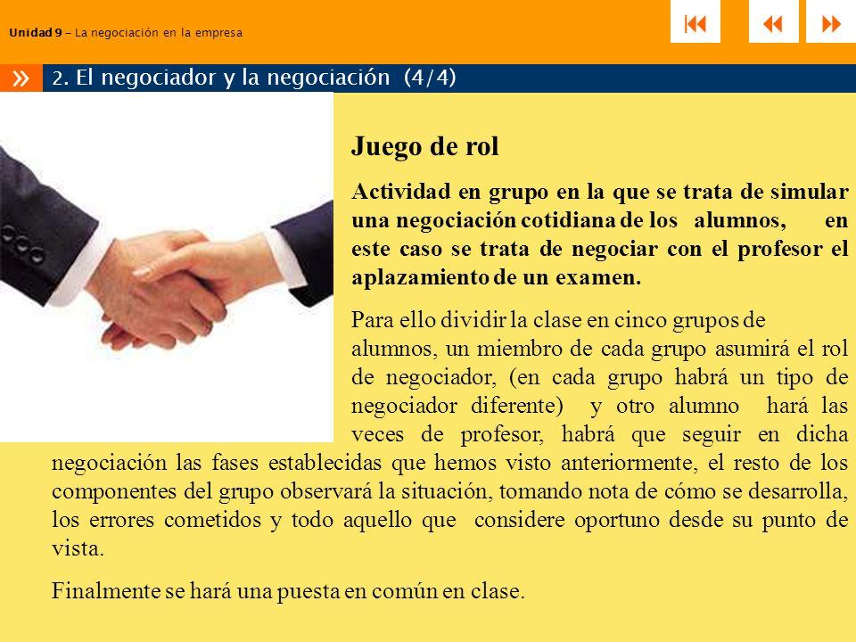 2. El negociador y la negociación (4/4)