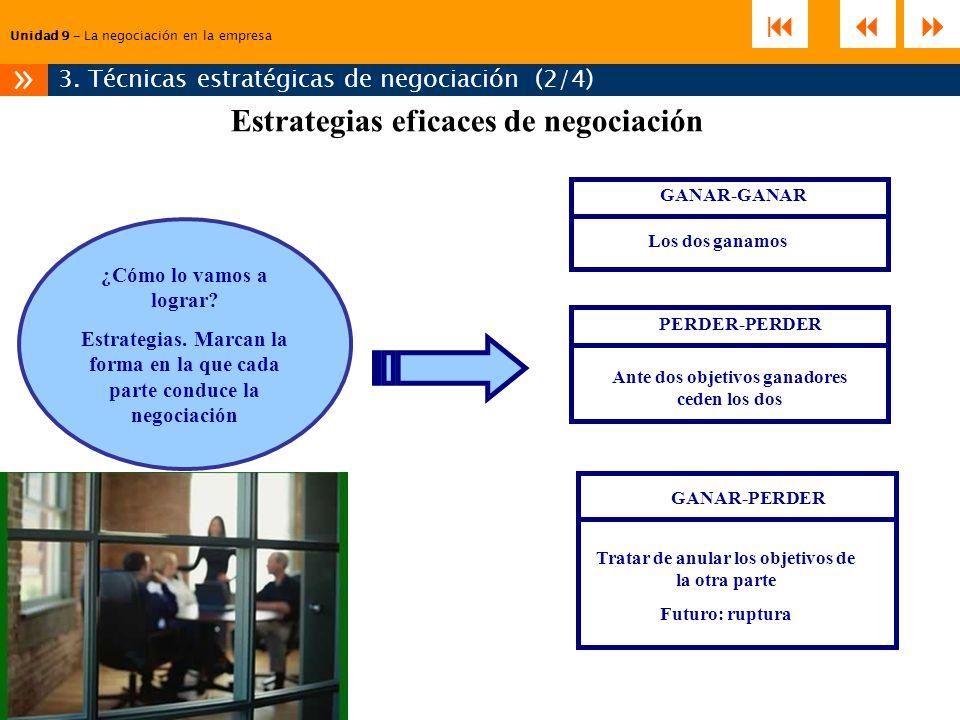 »    Estrategias eficaces de negociación