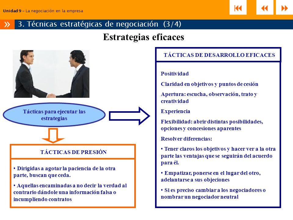 TÁCTICAS DE DESARROLLO EFICACES Tácticas para ejecutar las estrategias
