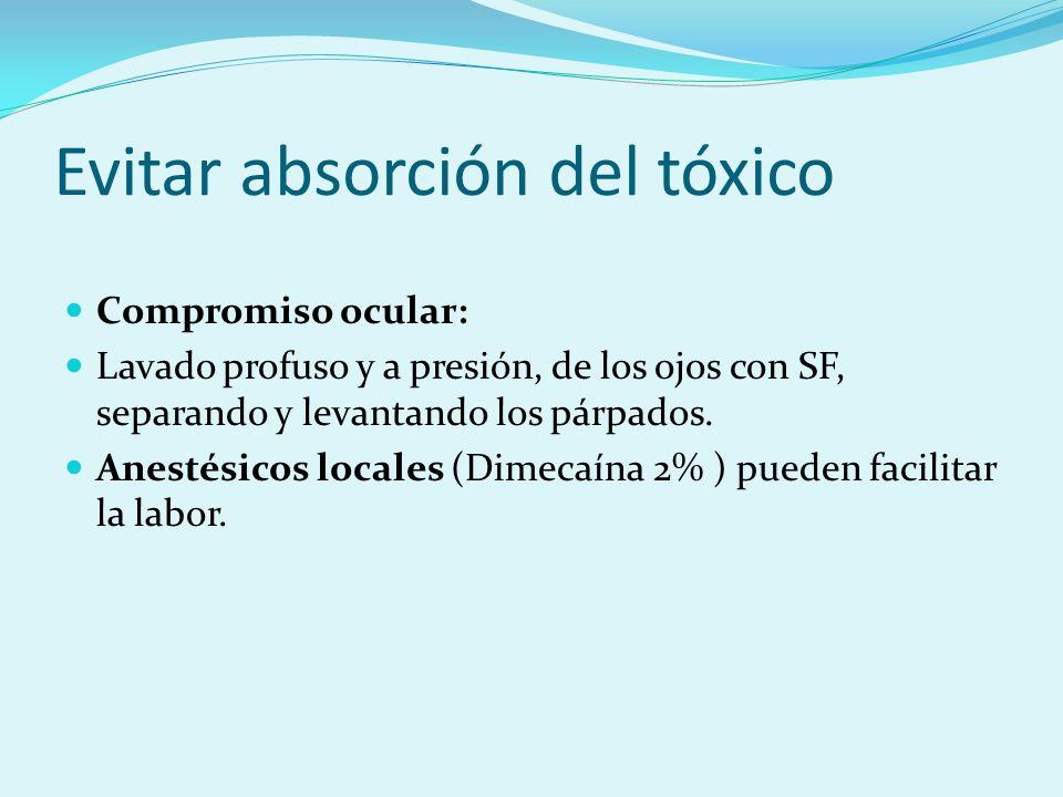 Evitar absorción del tóxico