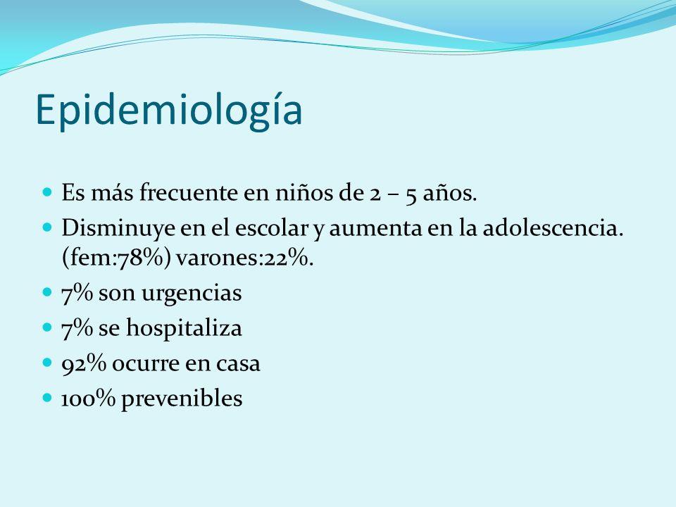 Epidemiología Es más frecuente en niños de 2 – 5 años.