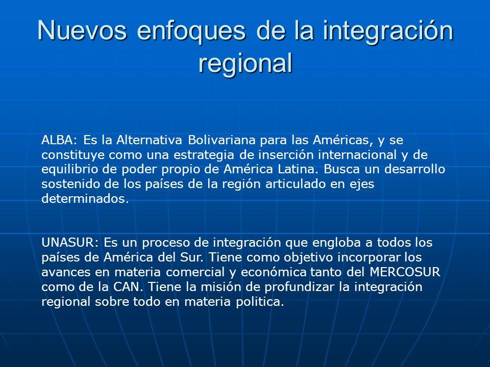Nuevos enfoques de la integración regional