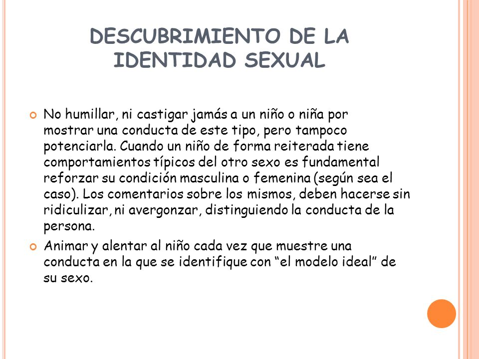 DESCUBRIMIENTO DE LA IDENTIDAD SEXUAL