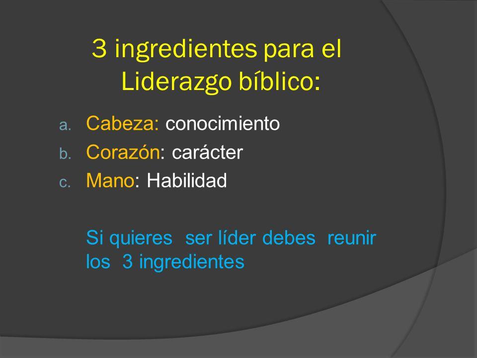 3 ingredientes para el Liderazgo bíblico: