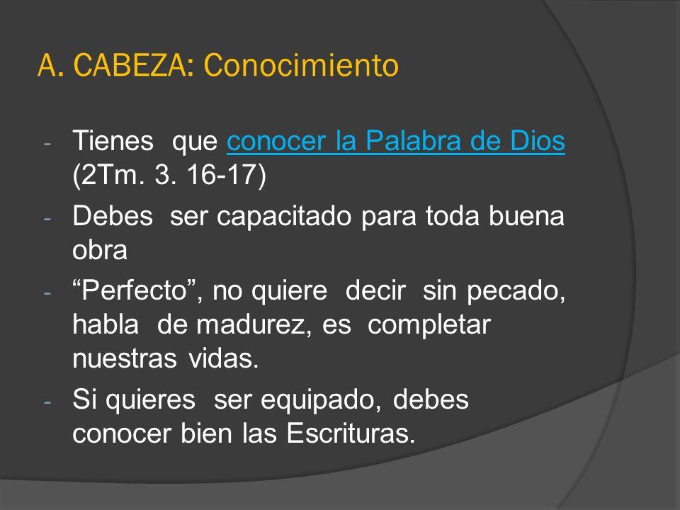 A. CABEZA: Conocimiento