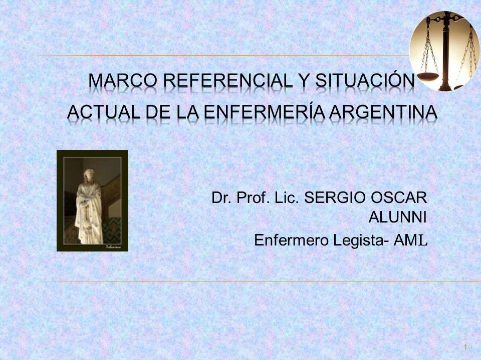 Marco referencial y situación actual de la enfermería argentina