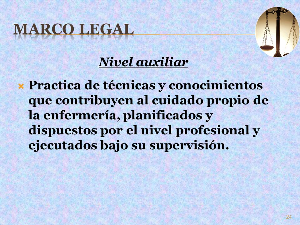 Marco Legal Nivel auxiliar