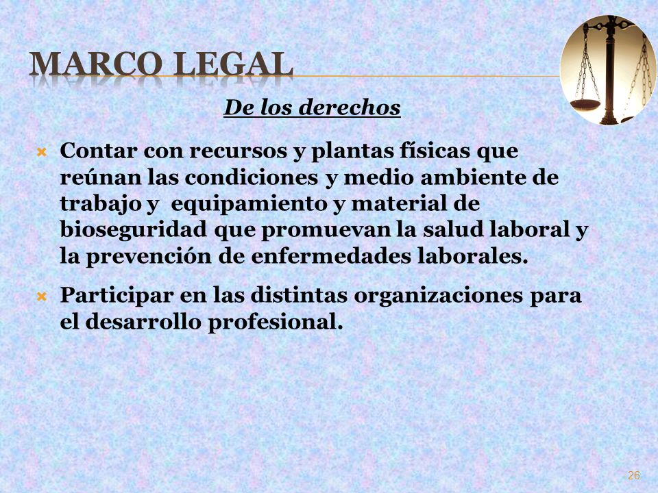 Marco Legal De los derechos
