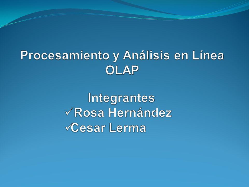 Procesamiento y Análisis en Línea OLAP